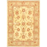 Ecarpetgallery Hand-knotted Chobi Finest Yellow Wool Rug (5'8 x 8'2)