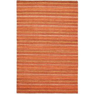 Ecarpetgallery Hand-knotted Finest Ziegler Chobi Orange Wool Rug (5'5 x 8'3)