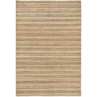 Ecarpetgallery Hand-knotted Finest Ziegler Chobi Beige Wool Rug (5'6 x 8'1)