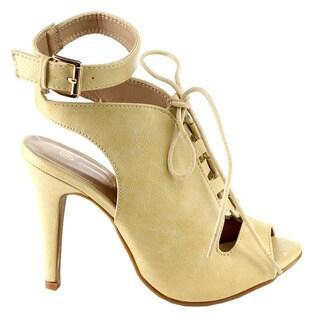 Beston Lace Up Buckle Stiletto Sandals