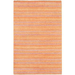 Ecarpetgallery Hand-knotted Finest Ziegler Chobi Orange Wool Rug (5'4 x 8'2)
