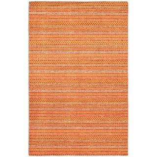 Ecarpetgallery Hand-knotted Finest Ziegler Chobi Orange Wool Rug (5'4 x 8'4)