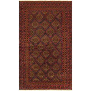 Ecarpetgallery Hand-knotted Tajik Red Wool Rug (5'3 x 9')