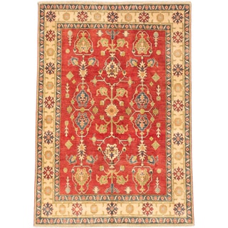 Ecarpetgallery Hand-knotted Finest Gazni Red Wool Rug (6' x 8'6)