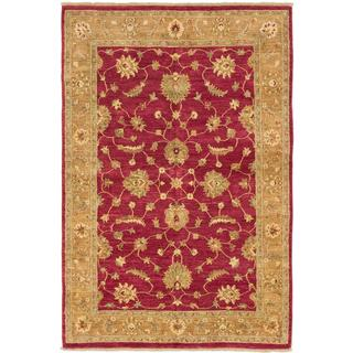 Ecarpetgallery Hand-knotted Chobi Finest Red Wool Rug (5'6 x 8'2)
