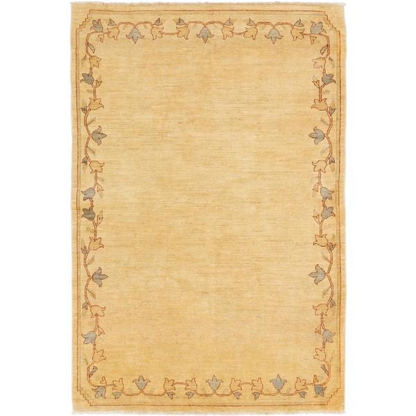 Ecarpetgallery Hand-knotted Chobi Finest Beige Wool Rug (6'2 x 9'3)