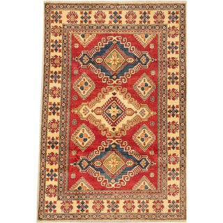 Ecarpetgallery Hand-knotted Finest Gazni Red Wool Rug (6'7 x 9'10)