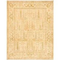 Ecarpetgallery Hand-knotted Chobi Finest Beige Wool Rug (6'8 x 8'4)