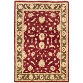 Ecarpetgallery Hand-knotted Chobi Finest Red Wool Rug (6' x 8'8)