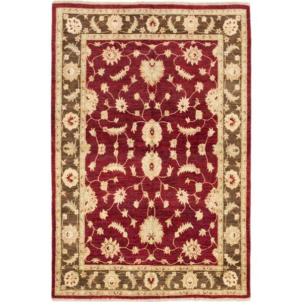 Ecarpetgallery Hand Knotted Chobi Finest Red Wool Rug 6 X27