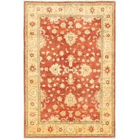 Ecarpetgallery Hand-knotted Chobi Finest Brown Wool Rug (5'11 x 8'10)