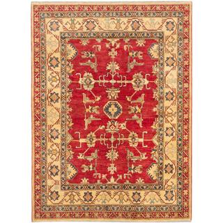 Ecarpetgallery Hand-knotted Finest Gazni Red Wool Rug (7' x 9'7)
