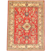Ecarpetgallery Hand-knotted Finest Gazni Red Wool Rug (6'10 x 9'4)