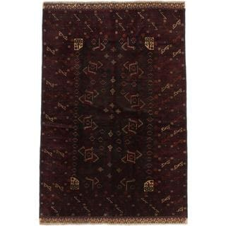 Ecarpetgallery Hand-knotted Finest Rizbaft Red Wool Rug (5'5 x 8'2)