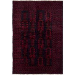 Ecarpetgallery Hand-knotted Finest Rizbaft Blue and Red Wool Rug (6'10 x 9'11)