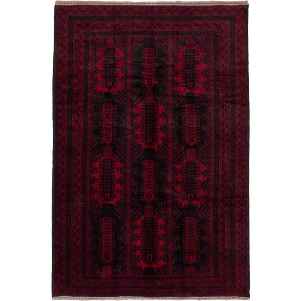 Ecarpetgallery Hand-knotted Finest Rizbaft Blue and Red Wool Rug (6'10 x 10')