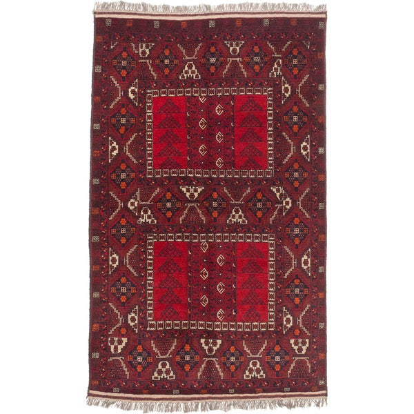 Ecarpetgallery Hand-knotted Finest Khal Mohammadi Red Wool Rug (5' x 8'3)