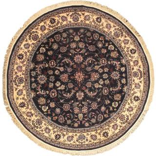 Ecarpetgallery Hand-knotted Sino Persian Blue and Brown Wool Rug (8' x 8')