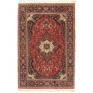 Ecarpetgallery Hand-knotted Sino Persian Red Wool Rug (6'2 x 9'2)