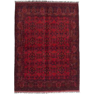 Ecarpetgallery Hand-knotted Finest Khal Mohammadi Red Wool Rug (5'11 x 8')