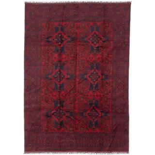 Ecarpetgallery Hand-knotted Finest Khal Mohammadi Red Wool Rug (6'7 x 9'4)