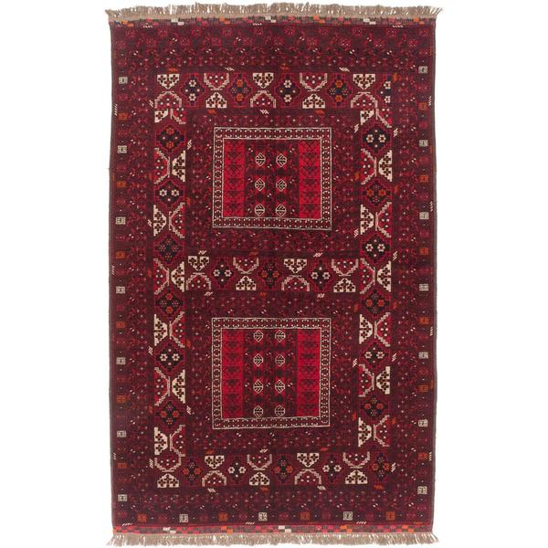 Ecarpetgallery Hand-knotted Finest Khal Mohammadi Red Wool Rug (5'1 x 8')