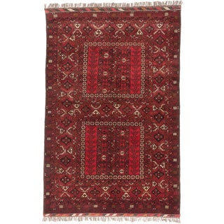 Ecarpetgallery Hand-knotted Finest Khal Mohammadi Red Wool Rug (5'4 x 8'5)