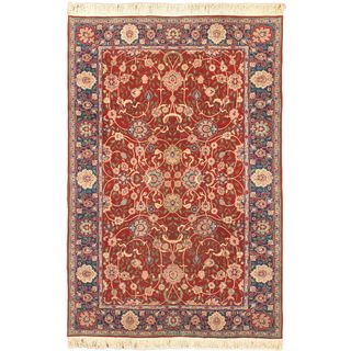 Ecarpetgallery Hand-knotted Sino Persian Red Wool Rug (6'1 x 8'11)