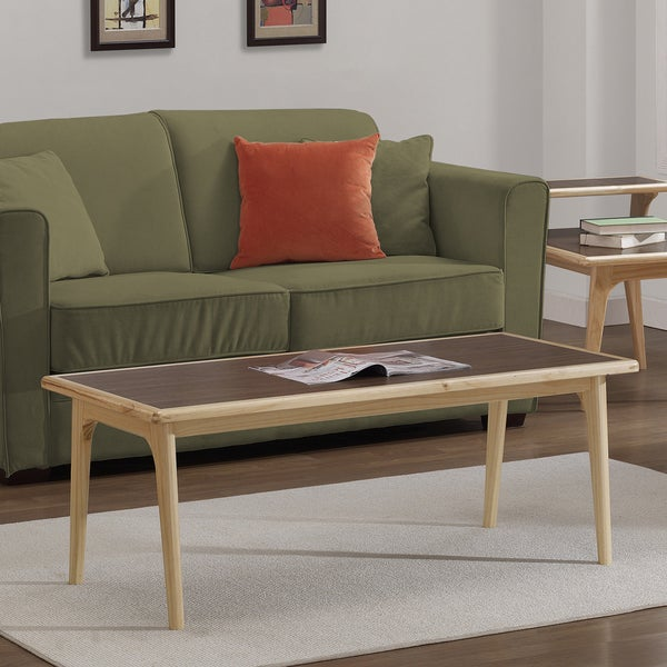 Mid Century Two Tone Coffee Table By Weiman: Mid-century Natural Two-tone Coffee Table