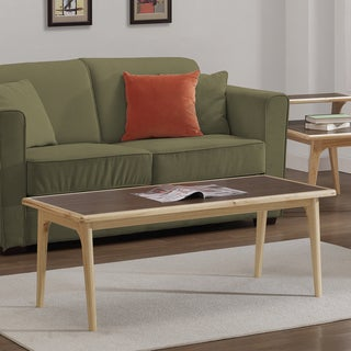 Mid-century Natural Two-tone Coffee Table