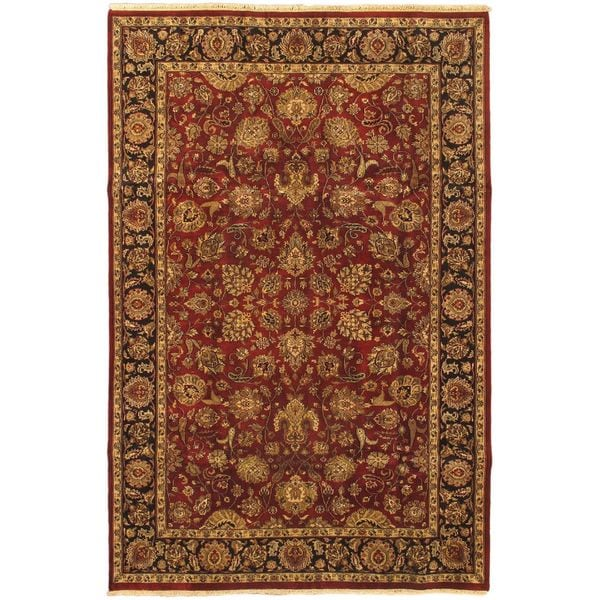 Ecarpetgallery Hand-knotted Jamshidpour Red Wool Rug (6'1 x 9'2)