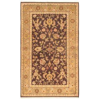 Ecarpetgallery Hand-knotted Jaipur Black Wool Rug (5'5 x 8'9)