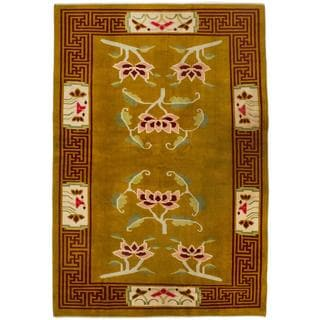 Ecarpetgallery Hand-knotted Aubousson Orange Wool Rug (5'10 x 8'4)