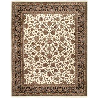 Ecarpetgallery Hand-knotted Mirzapur Beige Wool Rug (8' x 9'10)