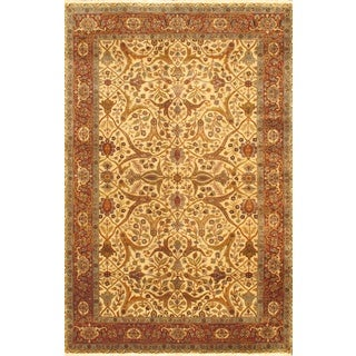 Ecarpetgallery Hand-knotted Mirzapur Brown Wool Rug (6' x 9')