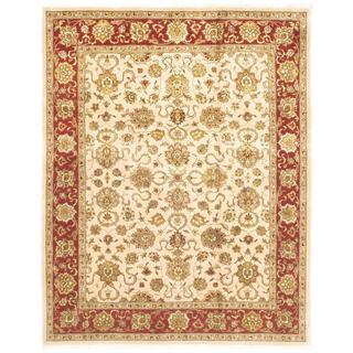 Ecarpetgallery Hand-knotted Jamshidpour Beige Wool Rug (8' x 10')