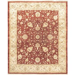 Ecarpetgallery Hand-knotted Jamshidpour Red Wool Rug (8' x 10')