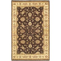 Ecarpetgallery Hand-knotted Chobi Twisted Brown Wool Rug (6'2 x 9'8)