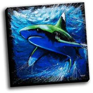 Shark Colorful Art Printed on Ready to Hang Framed Stretched Canvas