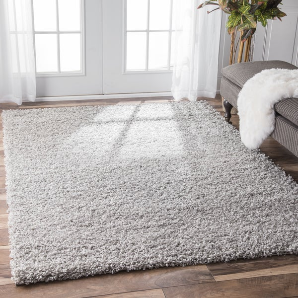 Nuloom Alexa My Soft And Plush Solid Silver Shag Rug 8 X
