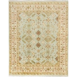 Ecarpetgallery Hand-knotted Royal Ushak Blue Wool Rug (8' x 9'11)
