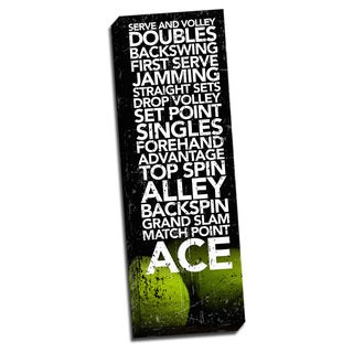 Tennis Game Time. Printed on Ready to Hang Framed Stretched Canvas