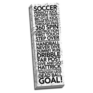 Soccer Game Time Words. Printed on Ready to Hang Framed Stretched Canvas