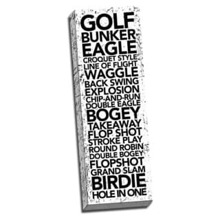 Golf Game Time Words. Printed on Ready to Hang Framed Stretched Canvas