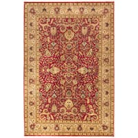 Ecarpetgallery Hand-knotted Mirzapur Red Wool Rug (5'10 x 8'9)