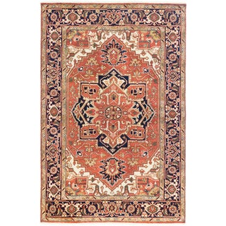 Ecarpetgallery Hand-knotted Serapi Heritage Brown Wool Rug (5'11 x 9'1)