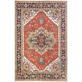 Ecarpetgallery Hand-knotted Serapi Heritage Brown Wool Rug (6' x 9'3)