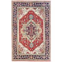Ecarpetgallery Hand-knotted Serapi Heritage Orange Wool Rug (5'10 x 9')