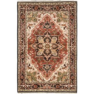 Ecarpetgallery Hand-knotted Royal Heriz Brown Wool Rug (5'8 x 8'9)