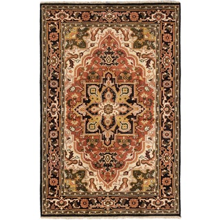 Ecarpetgallery Hand-knotted Royal Heriz Brown Wool Rug (5'11 x 8'11)